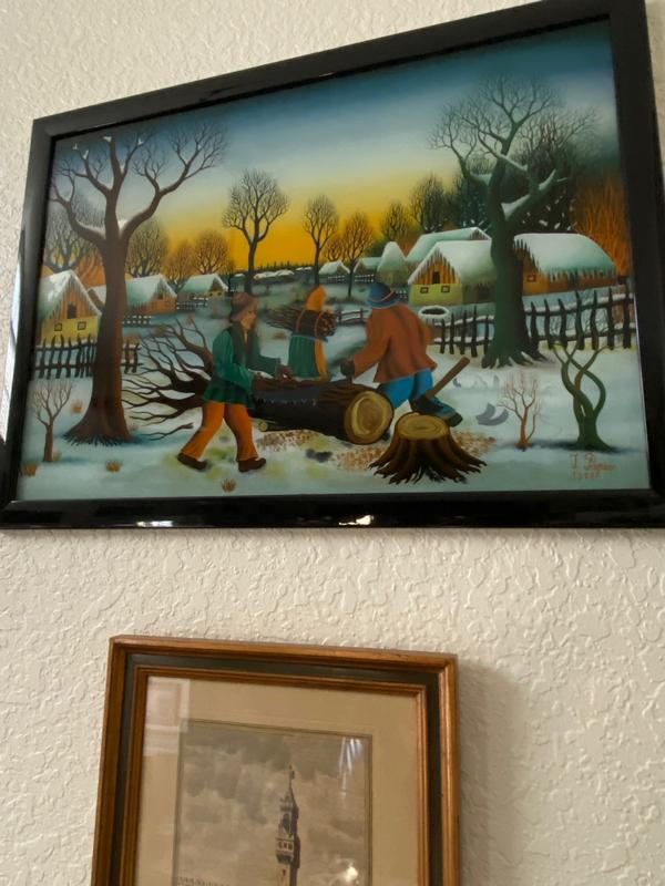 Winter Landscape with Twig Collectors